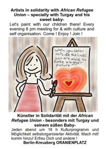 paint a heart for refugees