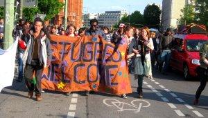 Schueler*innen solidarisieren sich mit Geflüchteten