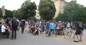Heute abend waren nur ca. 100 Menschen am Oranienplatz