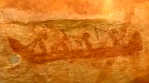 oldest picture of a boat, found in Australia https://www.youtube.com/watch?v=HiumX48gm1w
