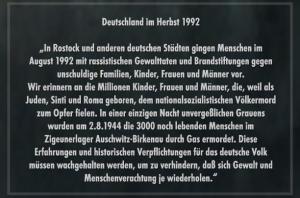 """Gedenktafel der """"Söhne und Töchter der jüdischen Deportierten Frankreichs"""""""